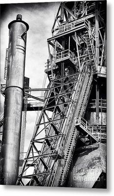 The Steel Mill Metal Print by John Rizzuto