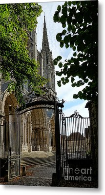 The Steeple And The Gate Metal Print by Olivier Le Queinec