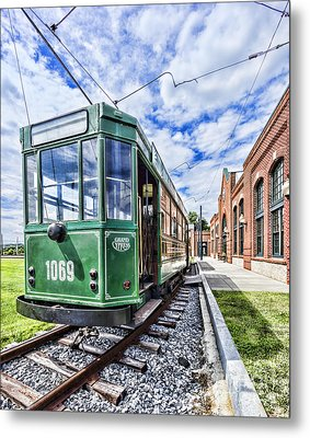 The Stib 1069 Streetcar At The National Capital Trolley Museum I Metal Print