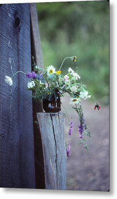 The Still Life Of Wild Flowers Metal Print by Patricia Keller