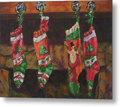 The Stockings Metal Print by Gloria  Nilsson