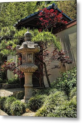 The Stone Lantern Metal Print by Peter Dang