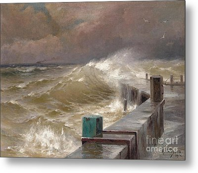 The Storm Metal Print by Celestial Images
