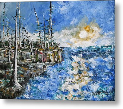 The Storm Metal Print by Beverly Livingstone