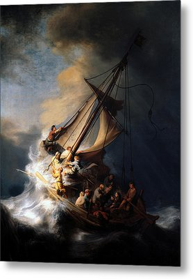 The Storm On The Sea Of Galilee Metal Print