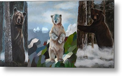 The Story Of The White Bear Metal Print by Jukka Nopsanen