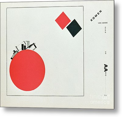 The Story Of Two Squares Metal Print by El Lissitzky