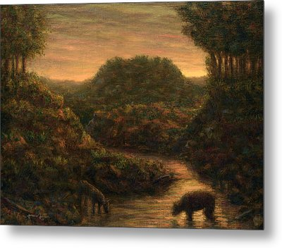 The Stream Metal Print by James W Johnson