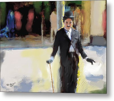 The Street Entertainer Metal Print