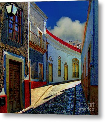 The Street To Diego Rivera's Parents House Metal Print by John  Kolenberg