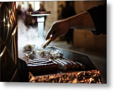 The Street Vendor Metal Print
