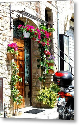 The Streets Of Assisi 1 Metal Print