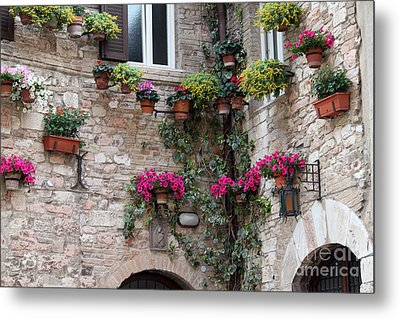 The Streets Of Assisi 2 Metal Print by Theresa Ramos-DuVon