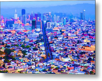 The Streets Of San Francisco 5d28040 Metal Print by Wingsdomain Art and Photography