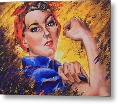 The Strength Within Metal Print by Connie Mobley Medina