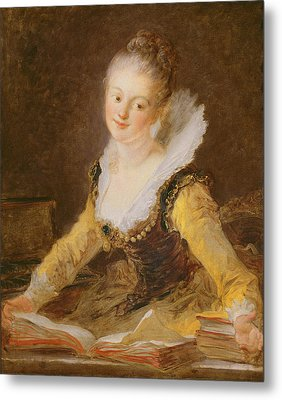 The Study, Or The Song Metal Print by Jean-Honore Fragonard