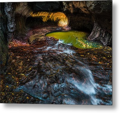 The Subway At Zion National Park Metal Print by Larry Marshall
