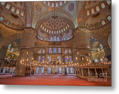 The Sultanahmet Mosque Istanbul Metal Print