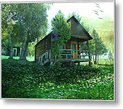 The Summer Cabin Metal Print by Dianne  Lacourciere