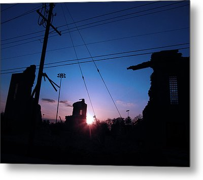 The Sun Also Rises On Ruins Metal Print