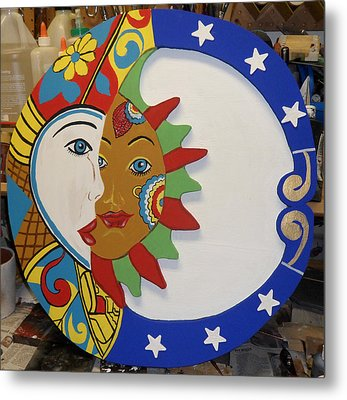 The Sun And The Moon Metal Print by Val Oconnor