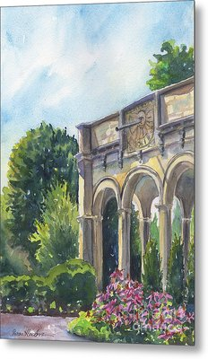 Metal Print featuring the painting The Sundial by Susan Herbst