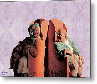 Metal Print featuring the digital art The Sunny Couple by Aliceann Carlton