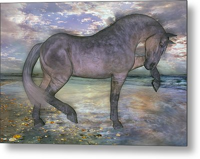 The Sunrise Horse Metal Print by Betsy Knapp