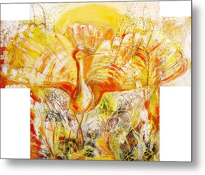 The Sun's Bird Metal Print by Otilia Gruneantu Scriuba