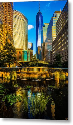 The Sunset Colors Of Battery Park City Metal Print by Chris Lord
