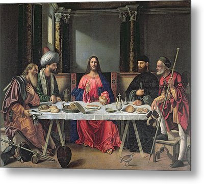 The Supper At Emmaus Metal Print