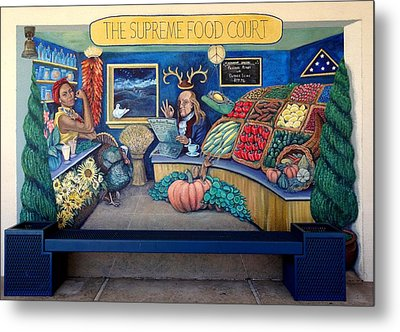The Supreme Food Court Metal Print by Elizabeth Criss