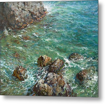 The Surf Metal Print by Korobkin Anatoly