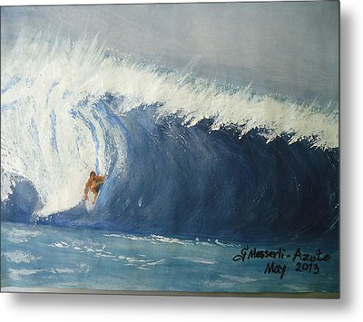 The Surfing Metal Print by Fladelita Messerli-