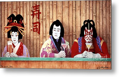 The Sushi Bar... Metal Print by Will Bullas