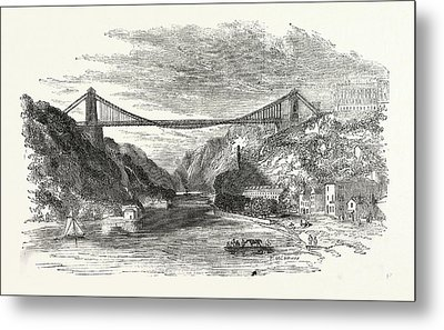 The Suspension Bridge At Clifton, Uk, Britain Metal Print by English School