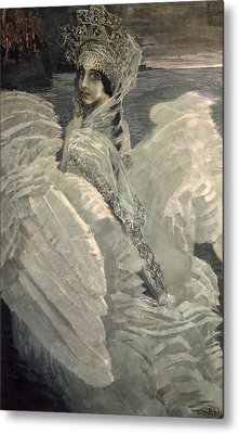 The Swan Princess, 1900 Metal Print by Mikhail Aleksandrovich Vrubel