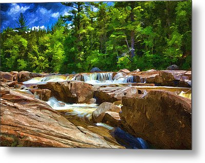 The Swift River Beside The Kancamagus Scenic Byway In New Hampshire Metal Print