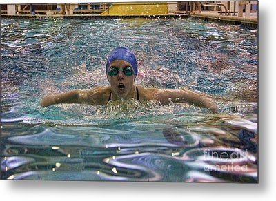 Metal Print featuring the photograph The Swimmer by Lee Dos Santos