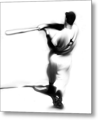 The Swing   Joe Dimaggio Metal Print by Iconic Images Art Gallery David Pucciarelli