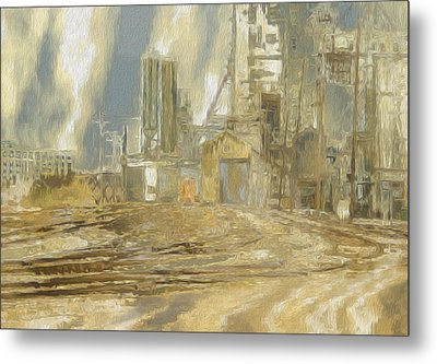 The Switch Yard Metal Print by Jack Zulli