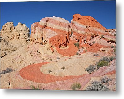 The Swoosh At The Valley Of Fire Metal Print by Steve Wolfe