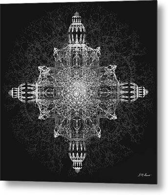 The Tabernacle In Black And White Metal Print by Michael Durst