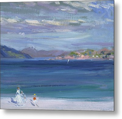 The Tail Of Mull From Iona Metal Print by Francis Campbell Boileau Cadell