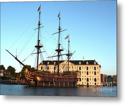 The Tall Clipper Ship Stad Amsterdam - Sailing Ship  - 05 Metal Print by Gregory Dyer