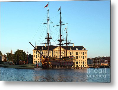 The Tall Clipper Ship Stad Amsterdam - Sailing Ship - 07 Metal Print by Gregory Dyer