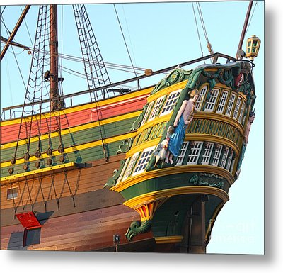 The Tall Clipper Ship Stad Amsterdam - Sailing Ship  - 08 Metal Print by Gregory Dyer