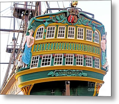 The Tall Clipper Ship Stad Amsterdam - Sailing Ship  - 09 Metal Print by Gregory Dyer