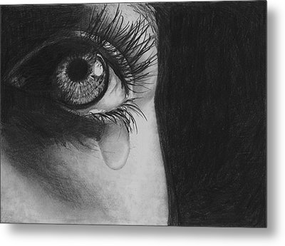 The Tear 2 Metal Print by Andrew Dyson