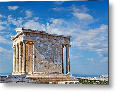 The Temple Of Athena Nike - Greece Metal Print by Constantinos Iliopoulos